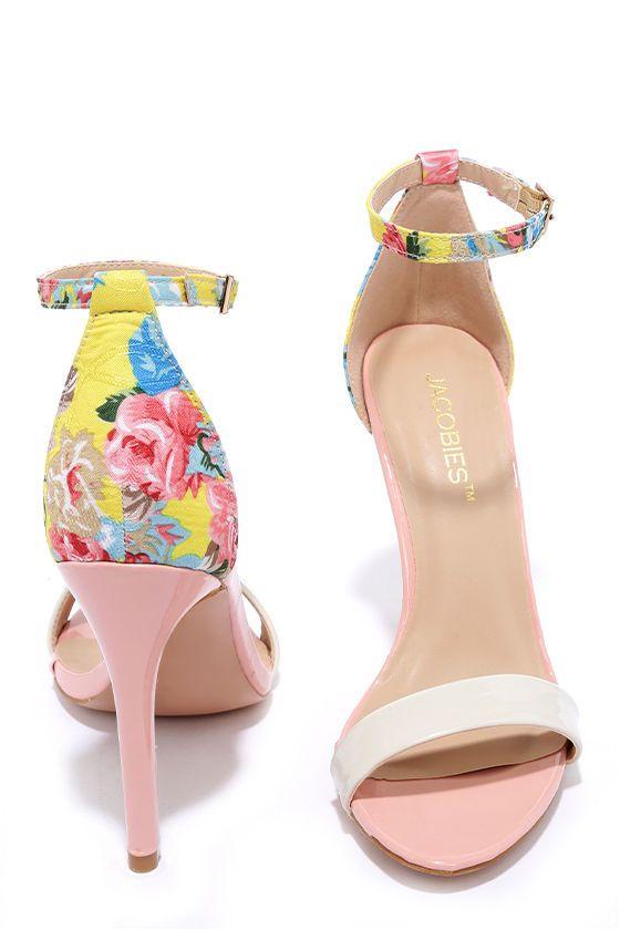 dba0828101571 Sugar Dumpling Pink Floral Ankle Strap Heels in 2019 | My love ...