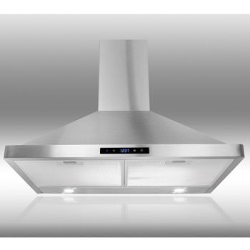 The AKDY 30-inch Wall Range Hood has a modern design that you can convert to a non-ducted hood. Read more about it here.