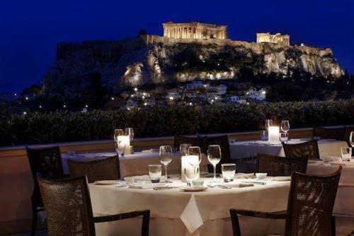 Honeymoon Romantic Dinner In Greece Athens Hotel Luxury Collection Hotels Garden Bar