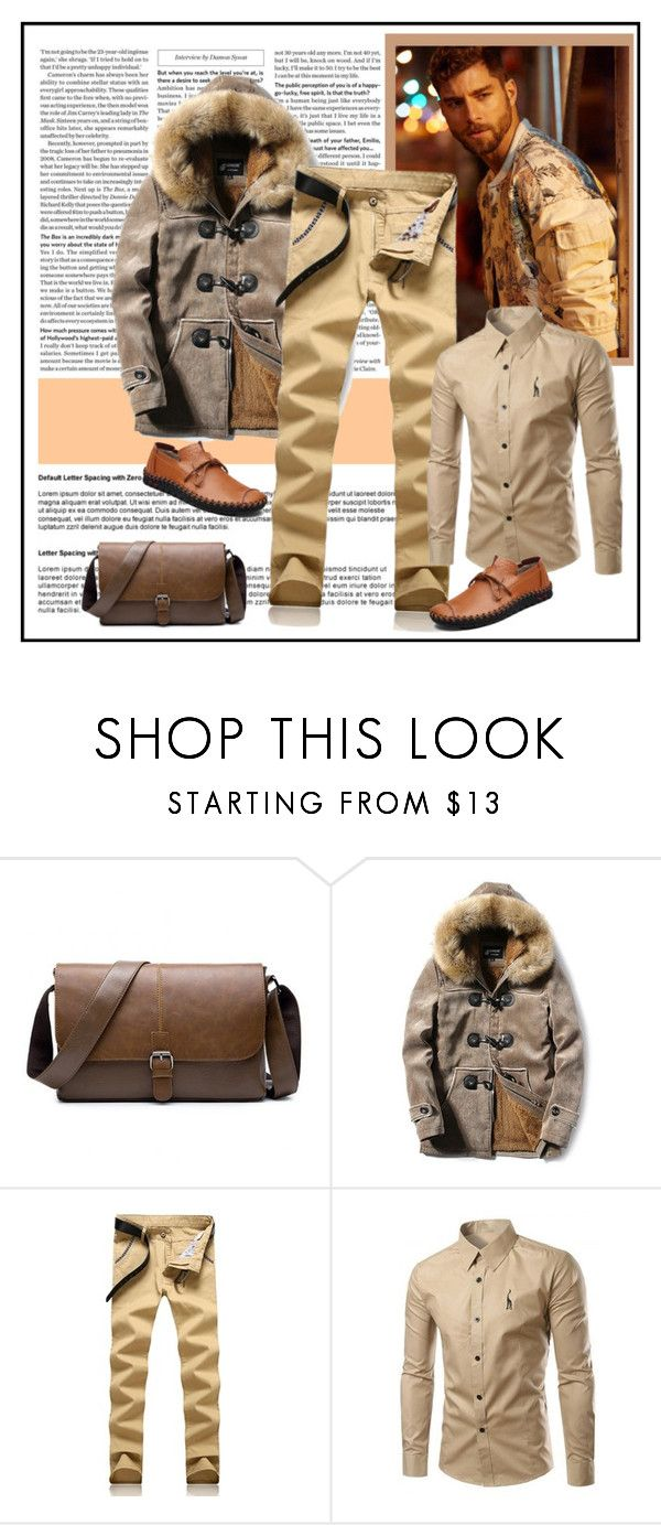 """Brief Style Shirt"" by carola-corana ❤ liked on Polyvore featuring men's fashion and menswear"