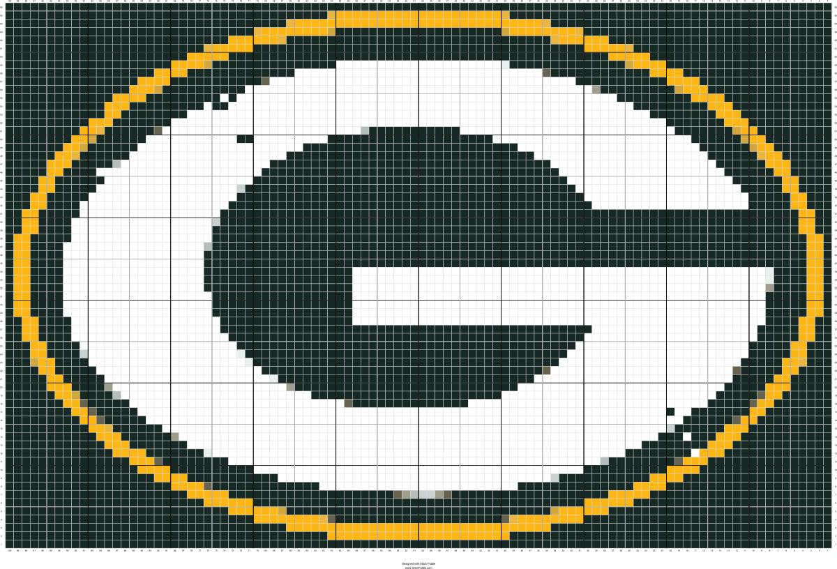 Green_Bay_Packers_logo_svg Easy pixel art, Cross stitch