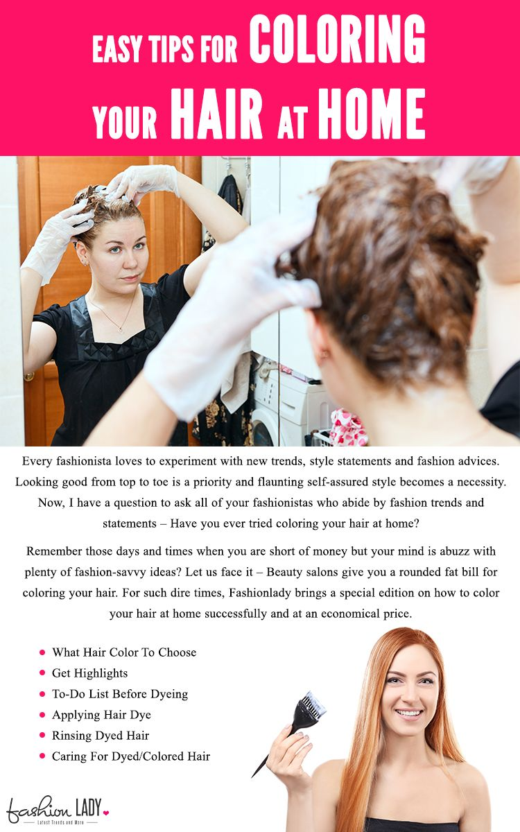 Tips For Coloring Your Hair At Home