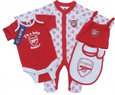 501d762ef An adorable 4 piece gift set for baby gooners. 0-12m £21.99  Arsenal ...