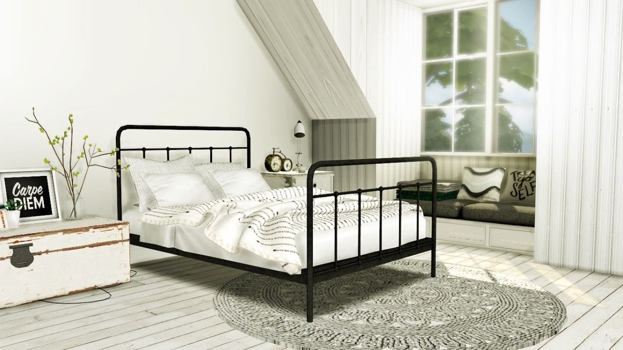 Ebonix ts4 cc reblogs mxims teyon bed merged with base for Mobili ikea modificati