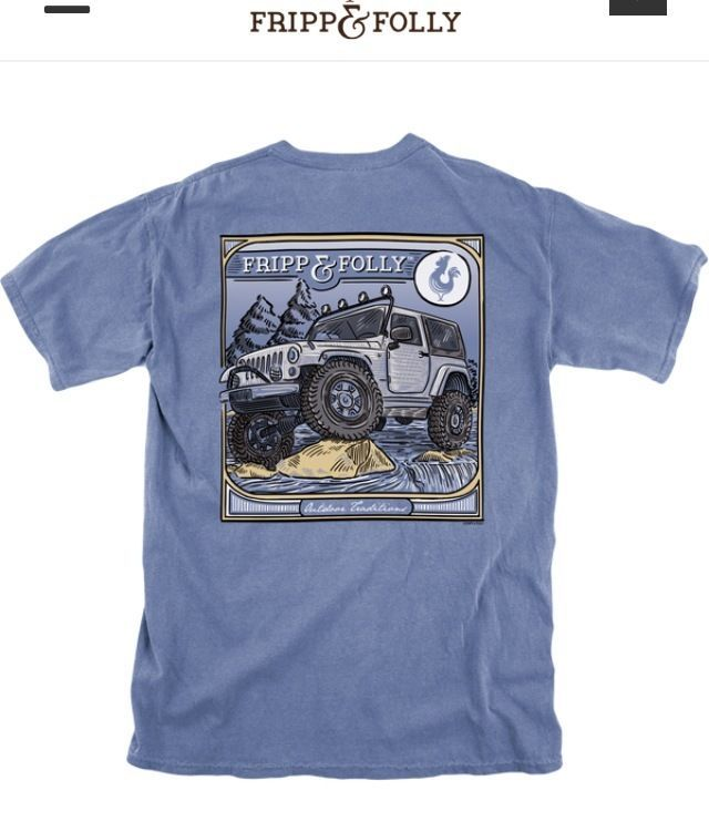 Fripp Folly Jeep Wrangler Outdoor Traditions Denim Wash T Shirt W