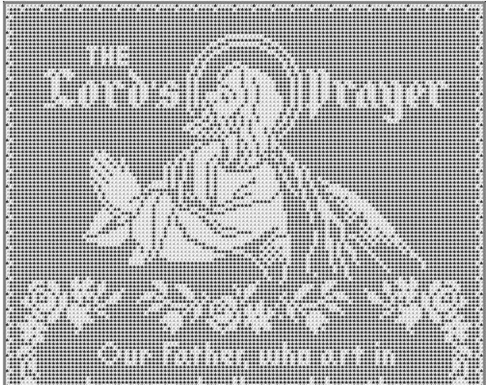 The Crucifixion Jesus Christ Wallhanging Vintage Thread
