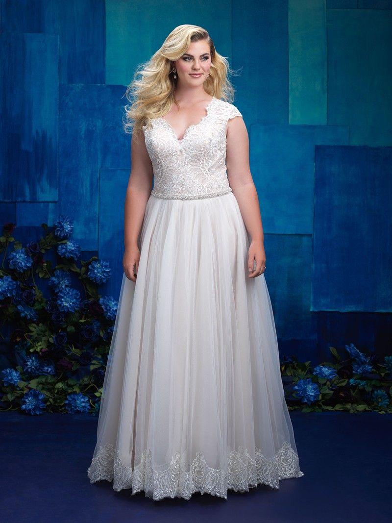Allure Bridals W398 Plus Size Wedding Gown Weddingdresses Wedding Bride Allurebridal Plus Size Wedding Gowns Allure Wedding Dresses Womens Wedding Dresses [ 1067 x 800 Pixel ]