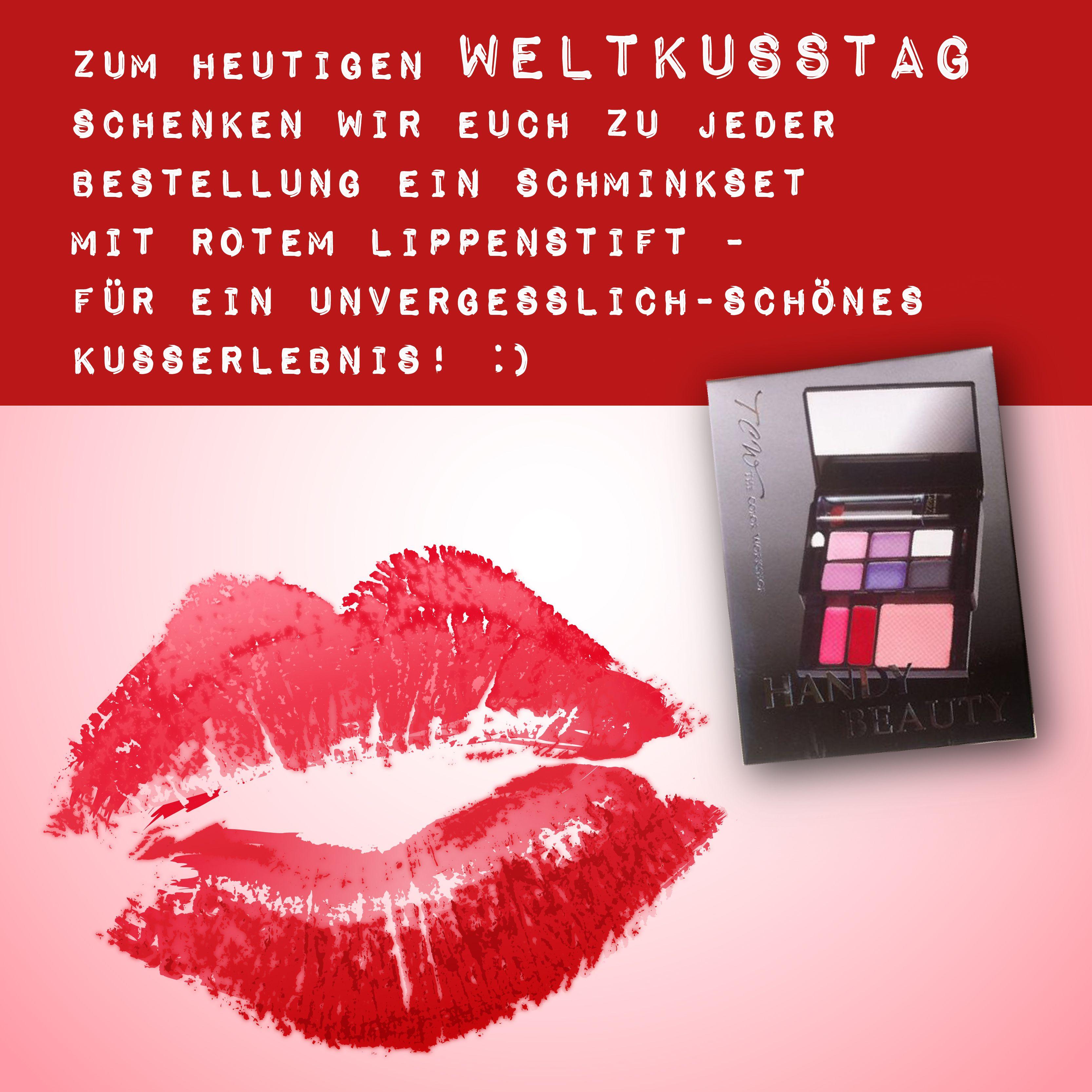 Heute ist #WELTKUSSTAG! :) Schnell bestellen & ein gratis Schminkset mit knallrotem #Lippenstift für den perfekten #Kussmund ergattern! Lots of Kisses, euer #SuperioNaturshop