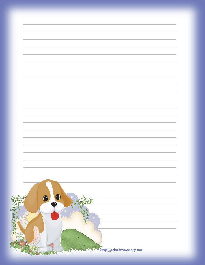 butterflies free printable stationery for kids, primary lined - lined page