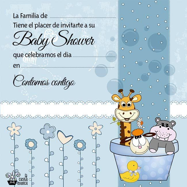 descarga gratis invitacion baby shower niño animalitos | baby ...