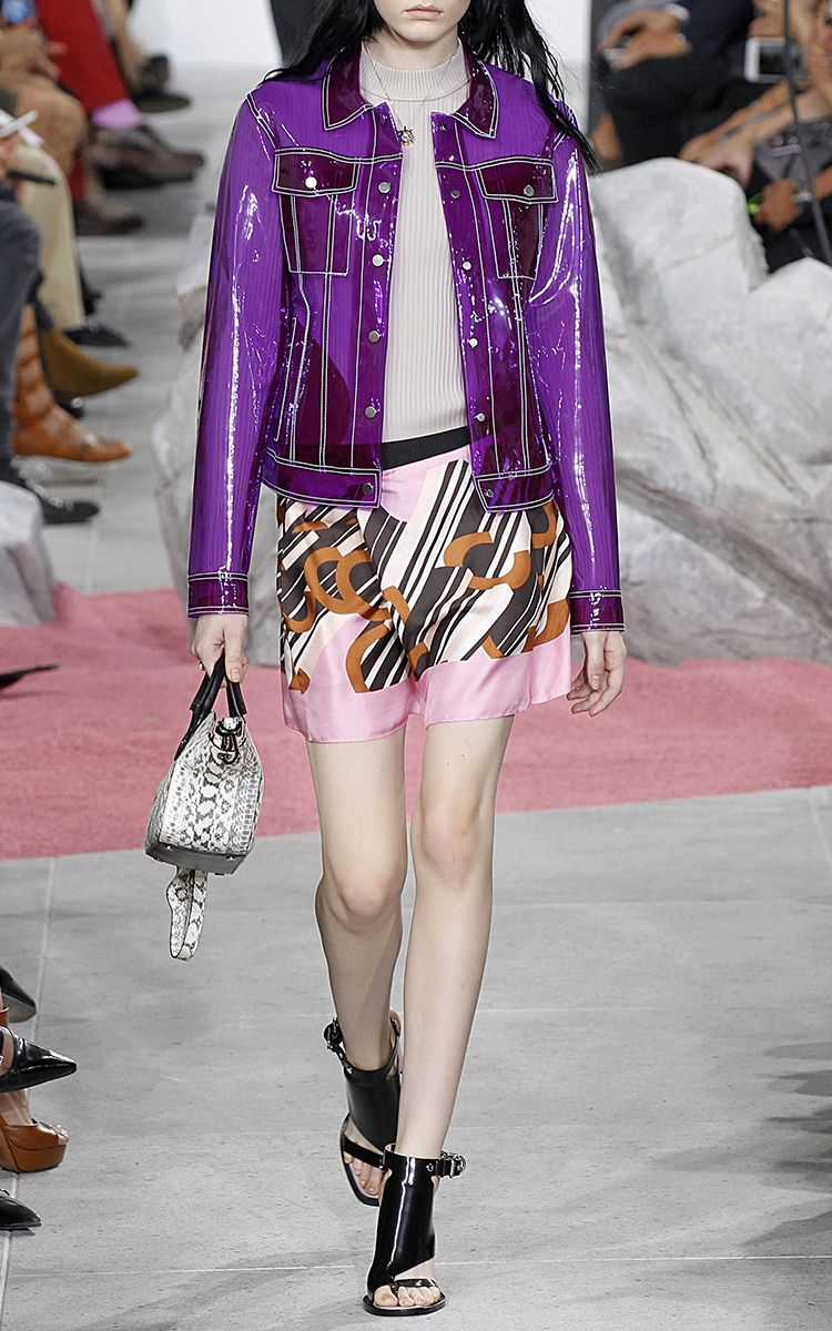 Colored Rhodoid Transparent Jacket by CARVEN for Preorder