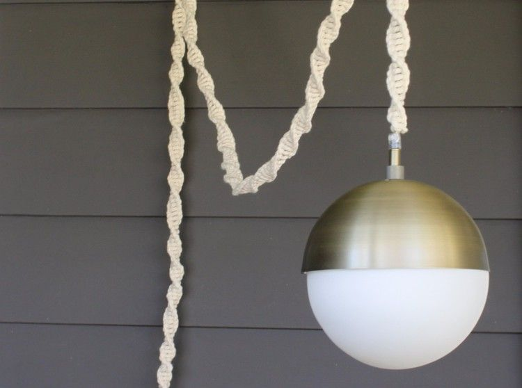 How To Make A Macrame Light Cord Cover