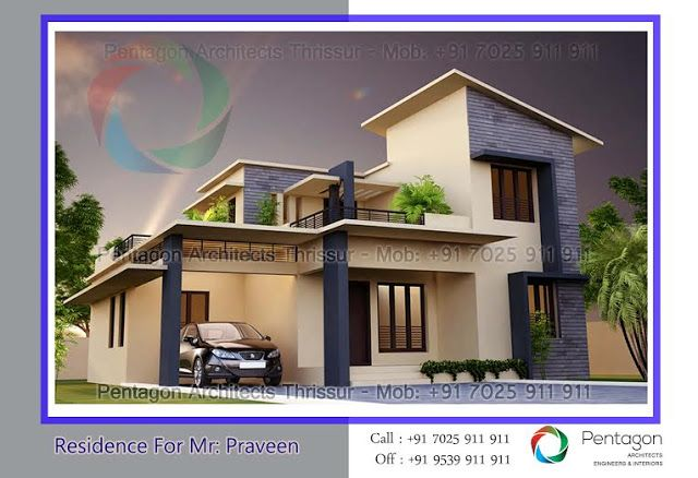Low cost 3 bedroom modern kerala home free plan budget 3 for Sedie design low cost