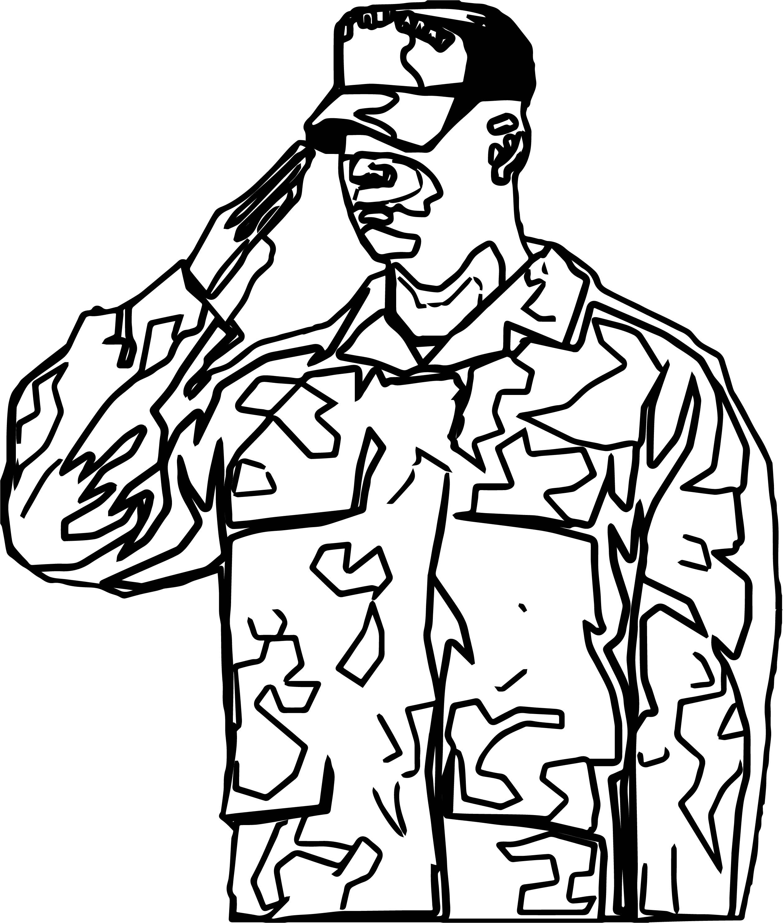 Awesome Soldier Salute Coloring Page Coloring Pages American