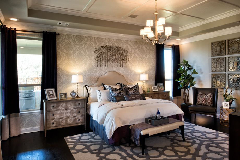 Toll Brothers Home, Master bedroom interior design