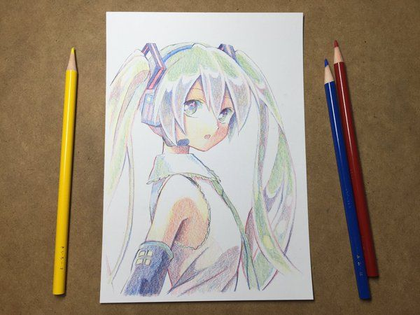 Watch hatsune miku get drawn with only three colored pencils also madoka with a cheap pencil set professional illustrators and even passionate amateurs