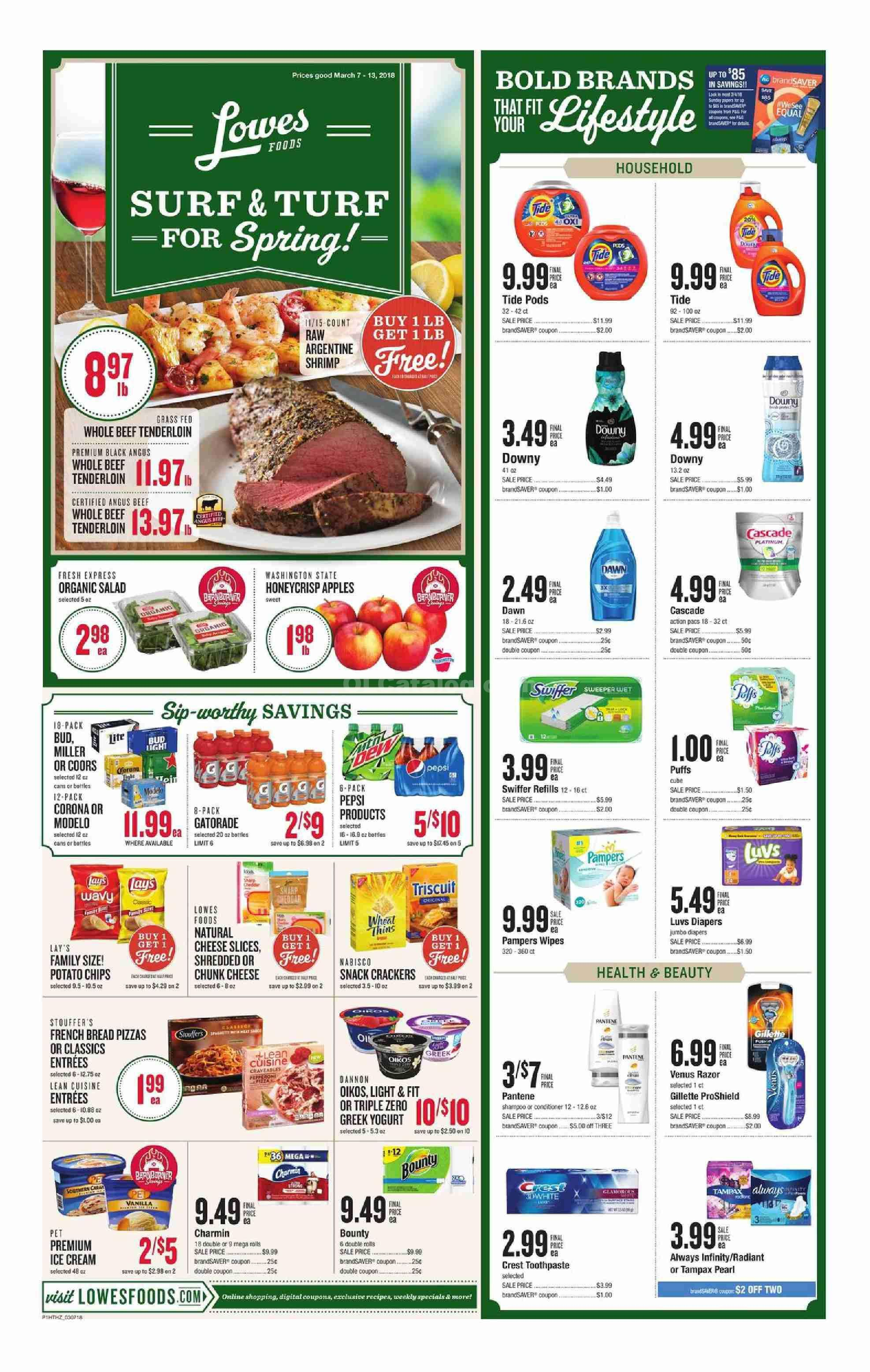 Lowes Foods Christmas Dinners 2020 Lowes Foods Weekly Ad March 7   13, 2018   http://.olcatalog