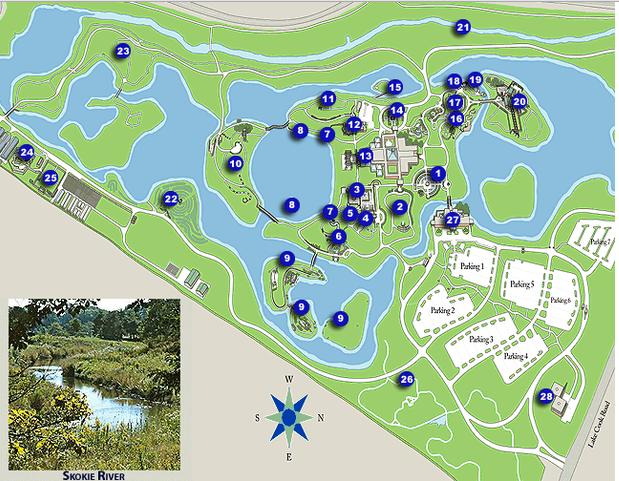 Chicago Botanic Garden Map Botanic Garden Map Chicago Botanic Garden Botanical Gardens
