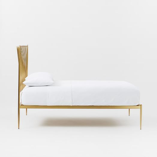 Stella Metal Bed Brass Modern Upholstered Beds Metal Beds