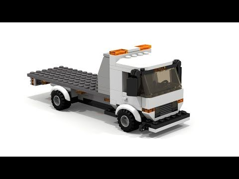 MOC] LEGO Flatbed Tow Truck Building Instructions - YouTube | city ...
