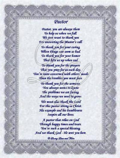 beautiful pastor poem