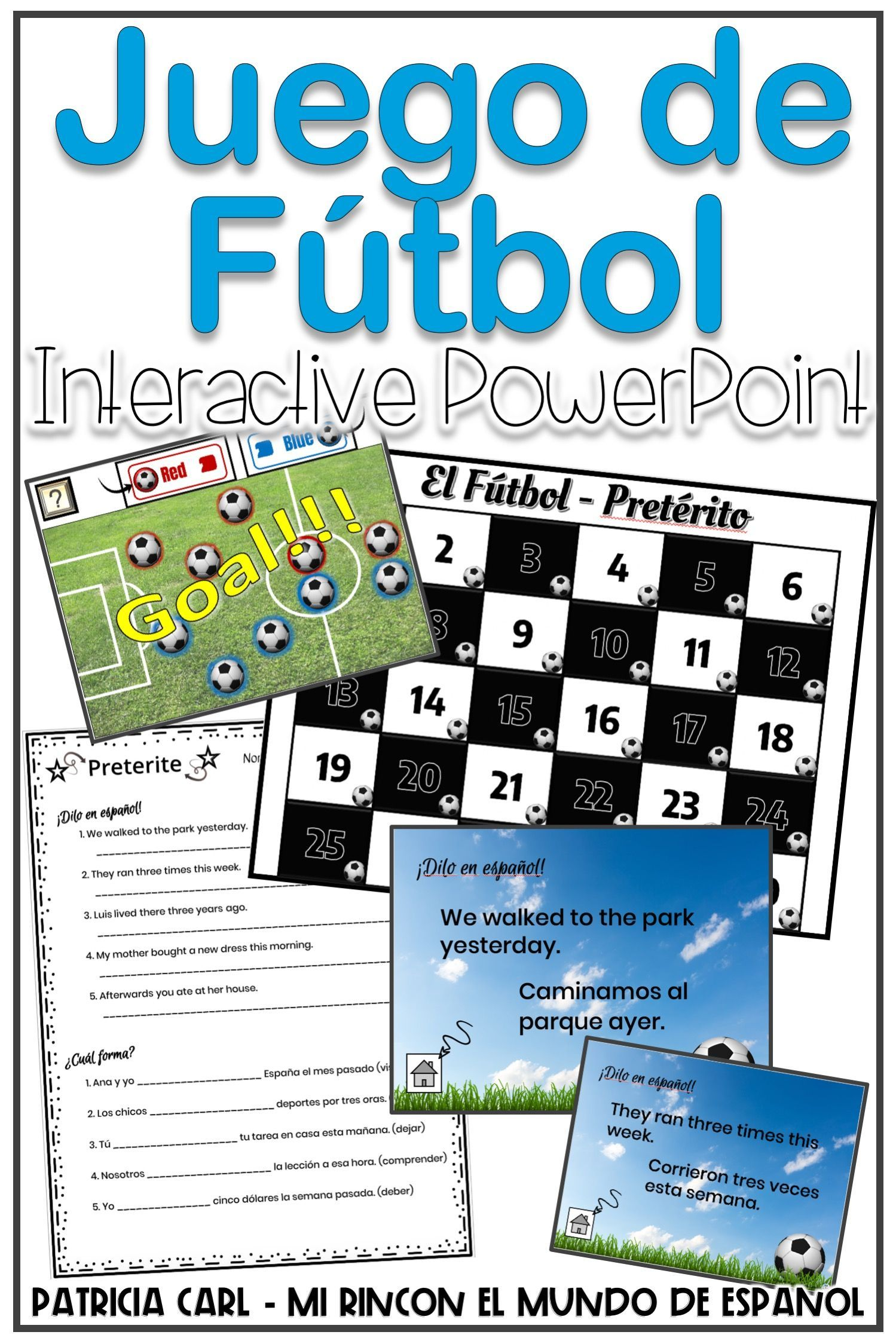 Spanish Preterite Game And Worksheet Juego De Futbol Distance Learning Spanish Classroom Games Preterite Spanish Preterite [ 2249 x 1499 Pixel ]