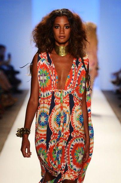 Miami South Beach Fashion Serafini Amelia Travel Ready Fl July 21 A Model Walks The Runway At Mara Hoffman Show