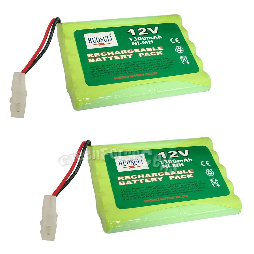 2 Pcs 12v 1300mah Ni Mh Rechargeable Battery Pack Cell With Tamiya Plug Us Stock Consumer Electronics Multipurpos Rechargeable Batteries Battery Pack Tamiya