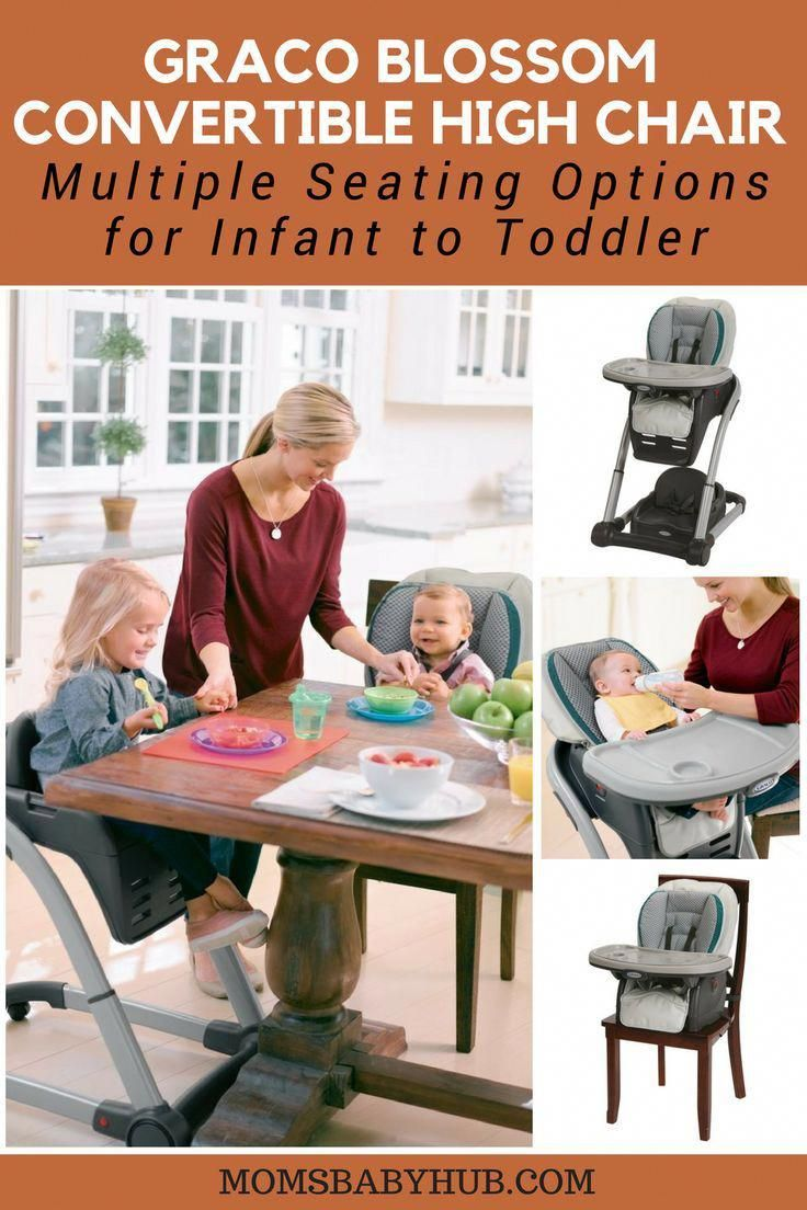 Graco blossom high chair multiple seating options for infant to