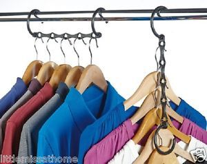 4 Space Saving Hangers Holds 20 Hangers 5 Hole Hook Rail Wardrobe Organiser Space Saving Hangers Closet Clothes Storage Space Saving