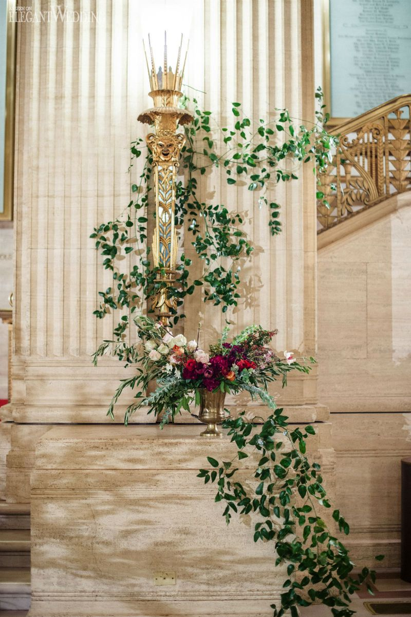 Crawling vines! Such romantic wedding decor! TUSCAN ART DECO WEDDING THEME www.elegantwedding.ca