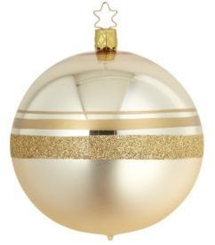 Inge's Christmas Decor Two-Tone Spherical Glass Decoration