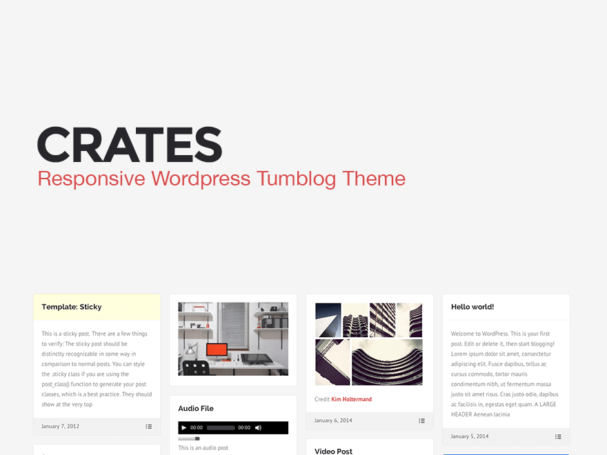 wordpress crates free wordpress themes directory template