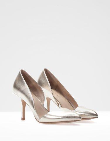 Stradivarius metallic heeled sandals clearance best sale deals sale online cheap price buy discount wE322R