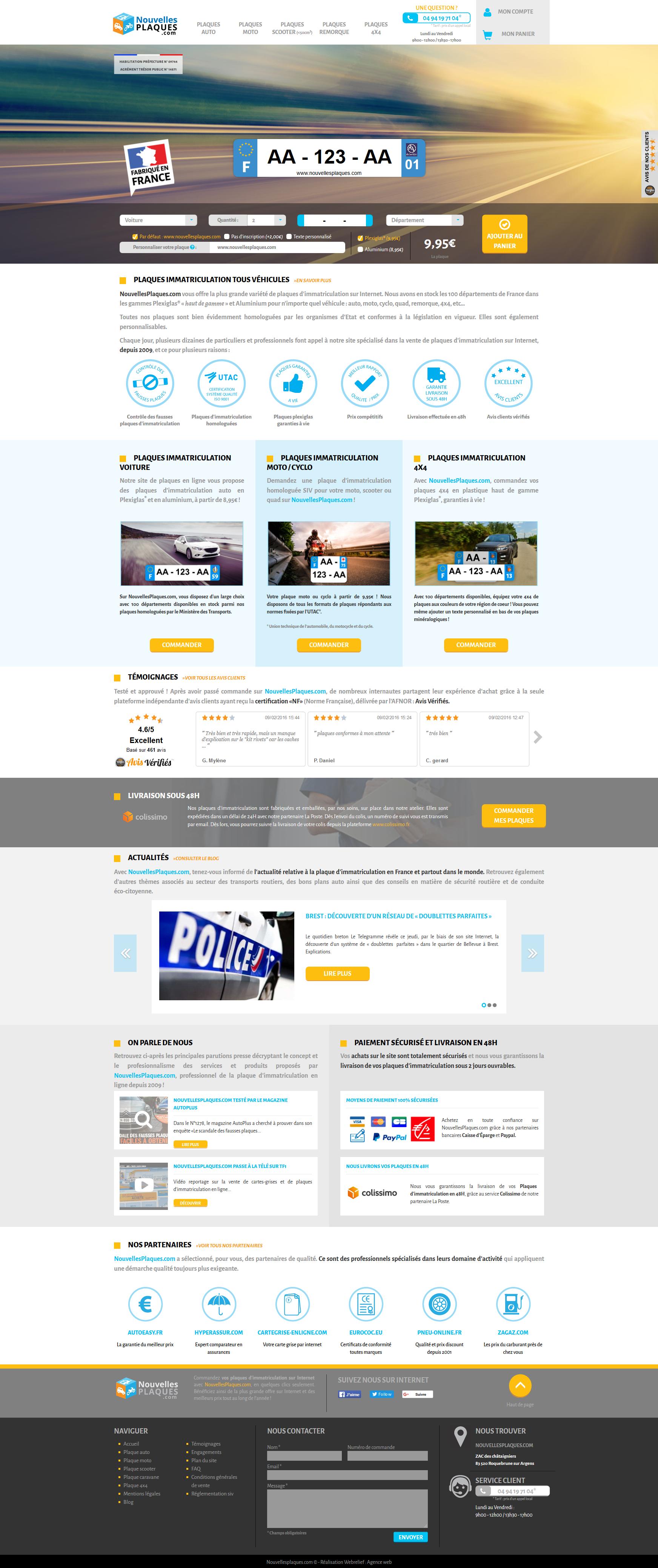 Voici la homepage de notre dernier projet : le site e-commerce www.nouvellesplaques.com  Bonne naviguation !  #ergonomie #ux