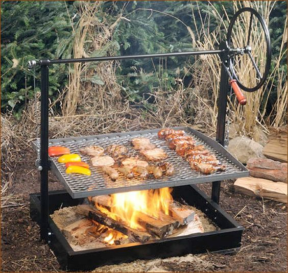 Campfire Grill Pit Fire Pit Cooking Fire Pit Grill Cowboy Fire Pit