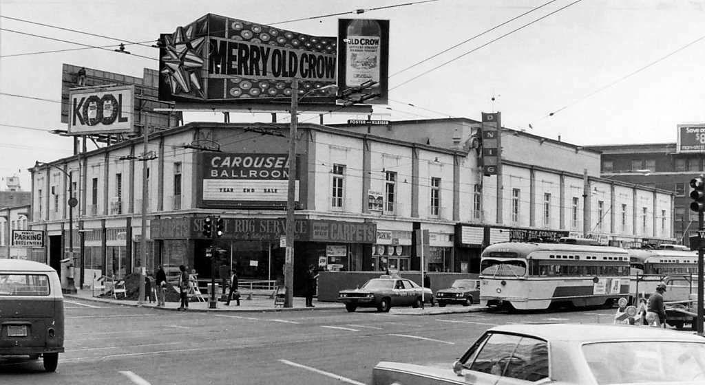 Carousel ballroom market and van ness san francisco 1970