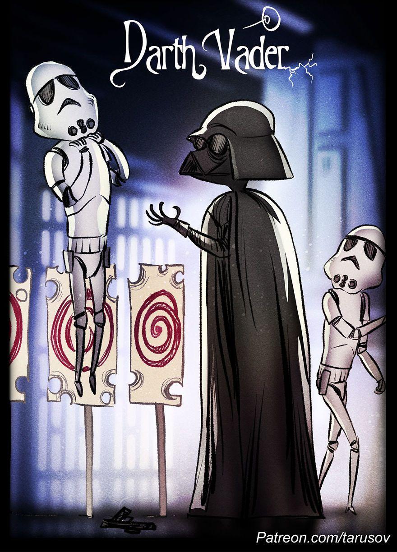 Star Wars Dans Le Style Tim Burton Par Andrew Tarusov Dessein De