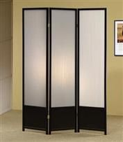 Contemporary Black Folding Screen