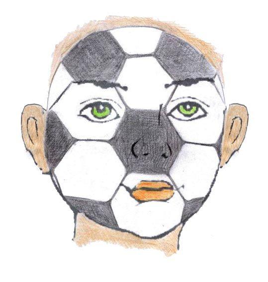 Schminken sminken grimeren voetbal schminken pinterest voetbal wk en voetbal feestje - Geschilderde bundel ...