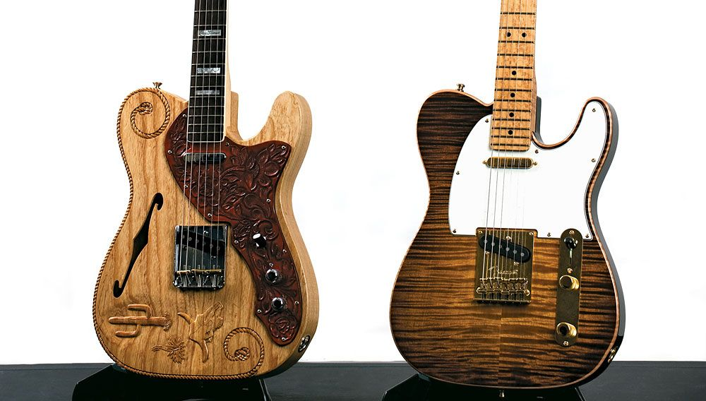 Sweet Fender #guitars with great lines and cool carvings.