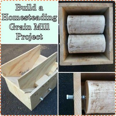 Build a Homesteading Grain Mill Project