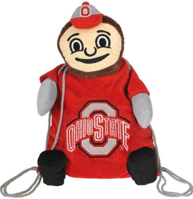 Ohio State Buckeyes NCAA College Sports Plush Team Mascot Backpack Pal Bag
