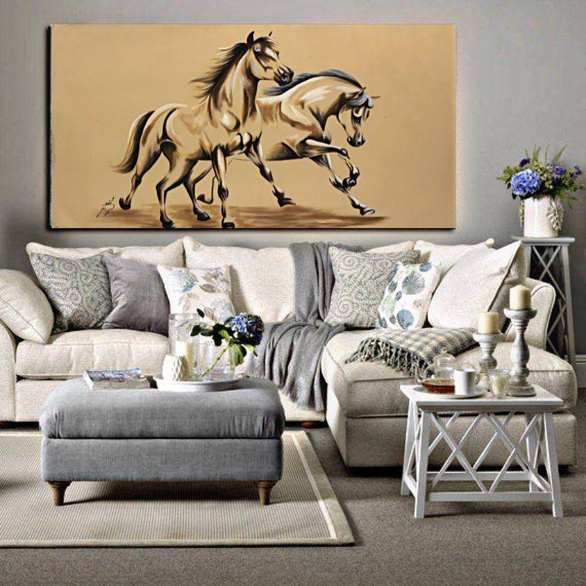 1 of 1 ✨ Horses 🐎 ✨ . .  size: 120 x 80 cm  الحجم: ١٢٠ - ٨٠ سم . . . #homedecor #رسم #abstract    #فن #art #artist #ديكورات  #رسمات  #decoration  #لوحات