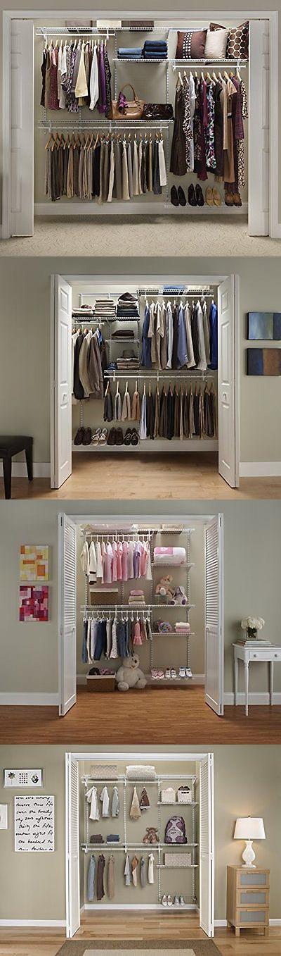 Closet Organizers 43503: Closetmaid 22875 Shelftrack 5Ft. To 8Ft.  Adjustable Closet Organizer Kit