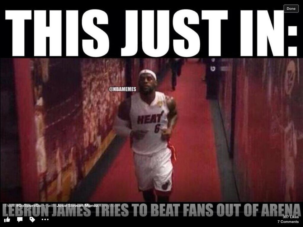 Diarrhea Ran Him Out Lebron James Lebron San Antonio Spurs