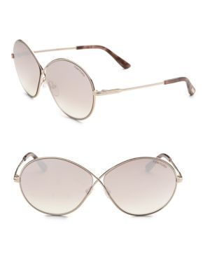 8b4f9743ecd2f TOM FORD EYEWEAR Rania 64MM Oval Sunglasses.  tomfordeyewear