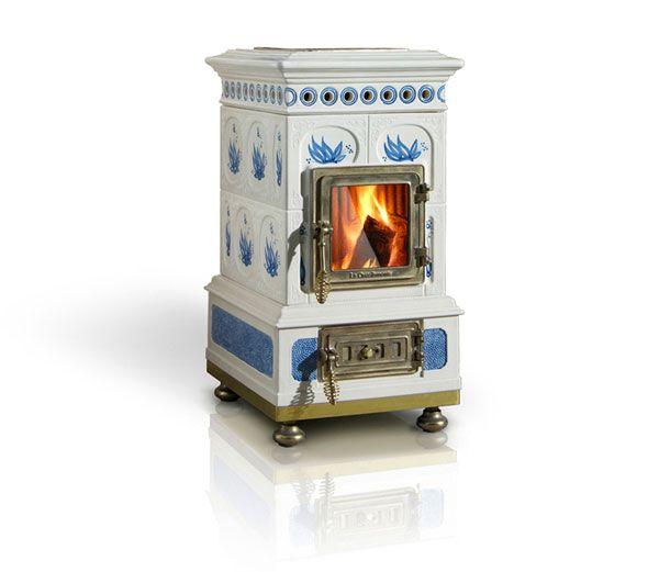 Wood stoves by la castellamonte ceramics images from la for Decorative rocket stove