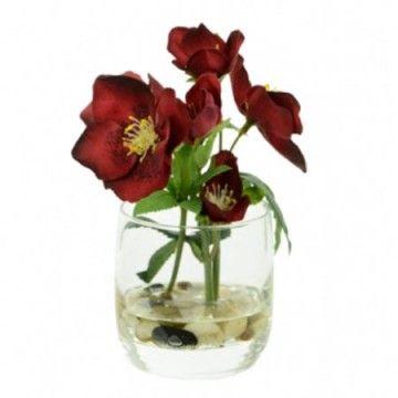 Artificial Flower Arrangements | Hellebores Red - 16X130