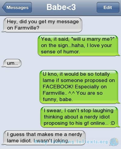 idiot text message | So what are you doing?